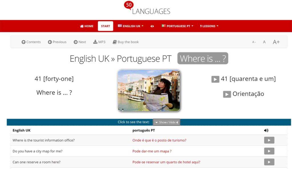 50 languages screenshot
