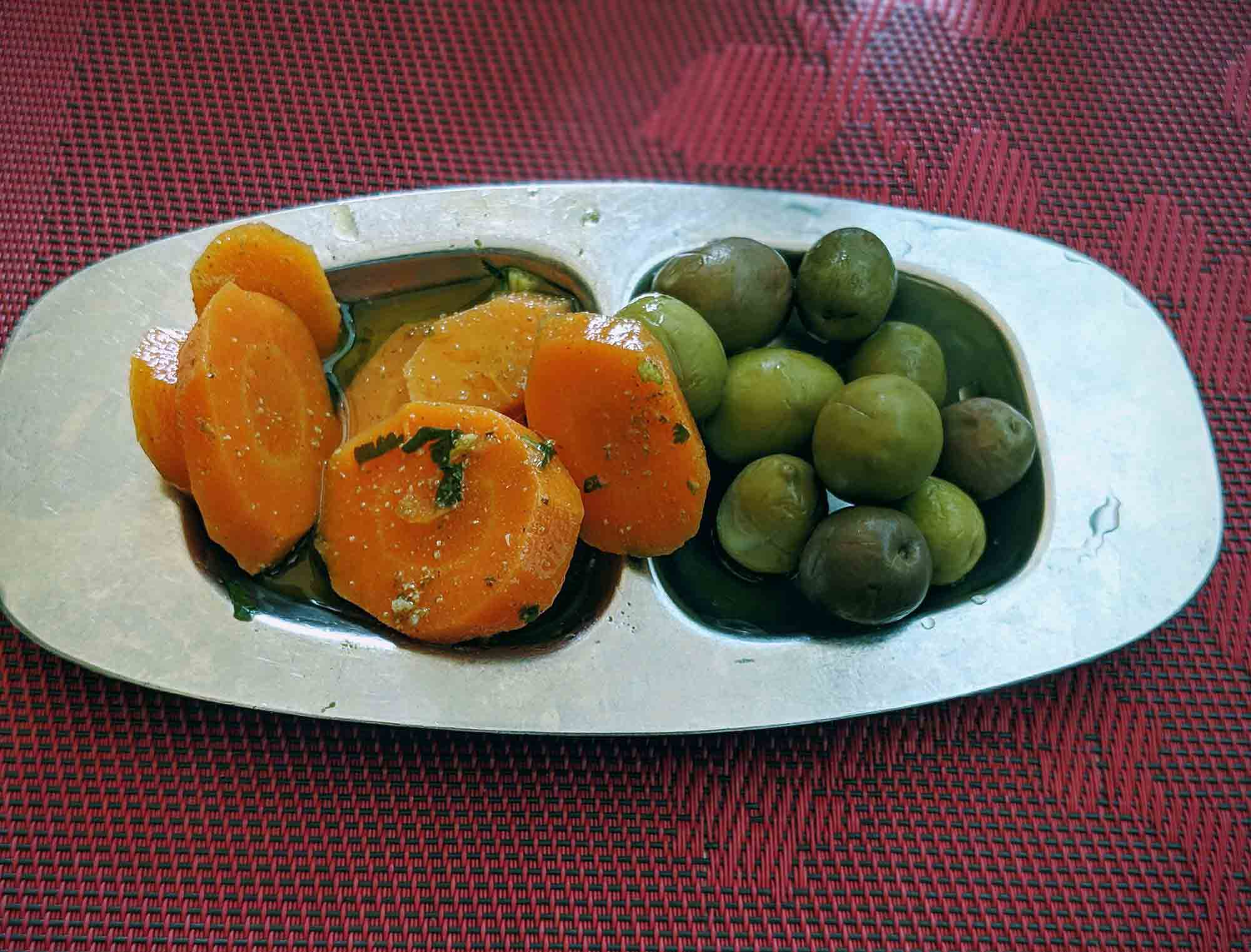 Algarve carrots and olives