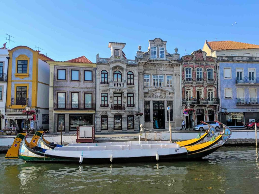 Aveiro buildings and boats