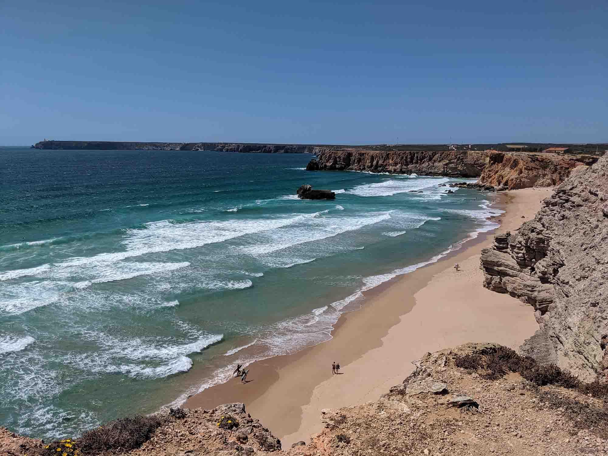 A beach near Sagres