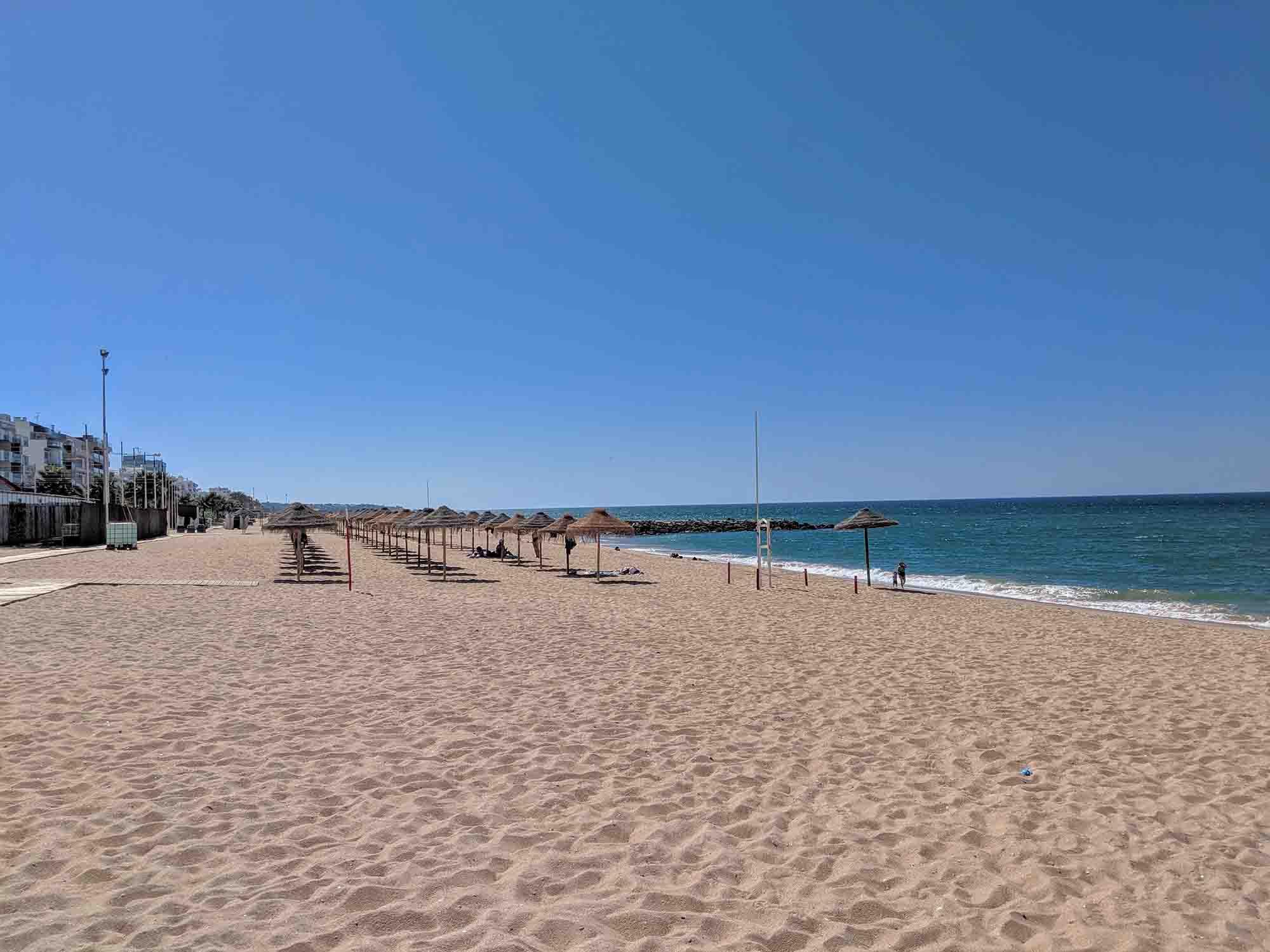 Beach in Quarteira
