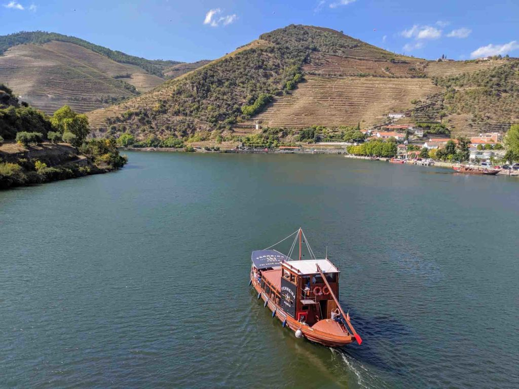 Boat on the Douro River at Pinhao