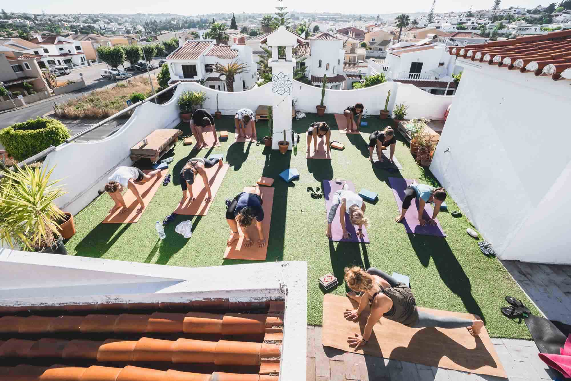 Bura Surfhouse - Rooftop Yoga full size