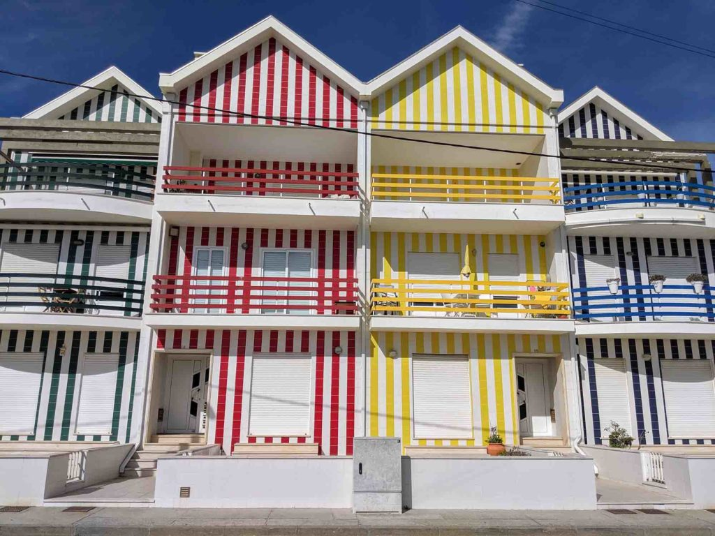The colourful houses of Costa Nova