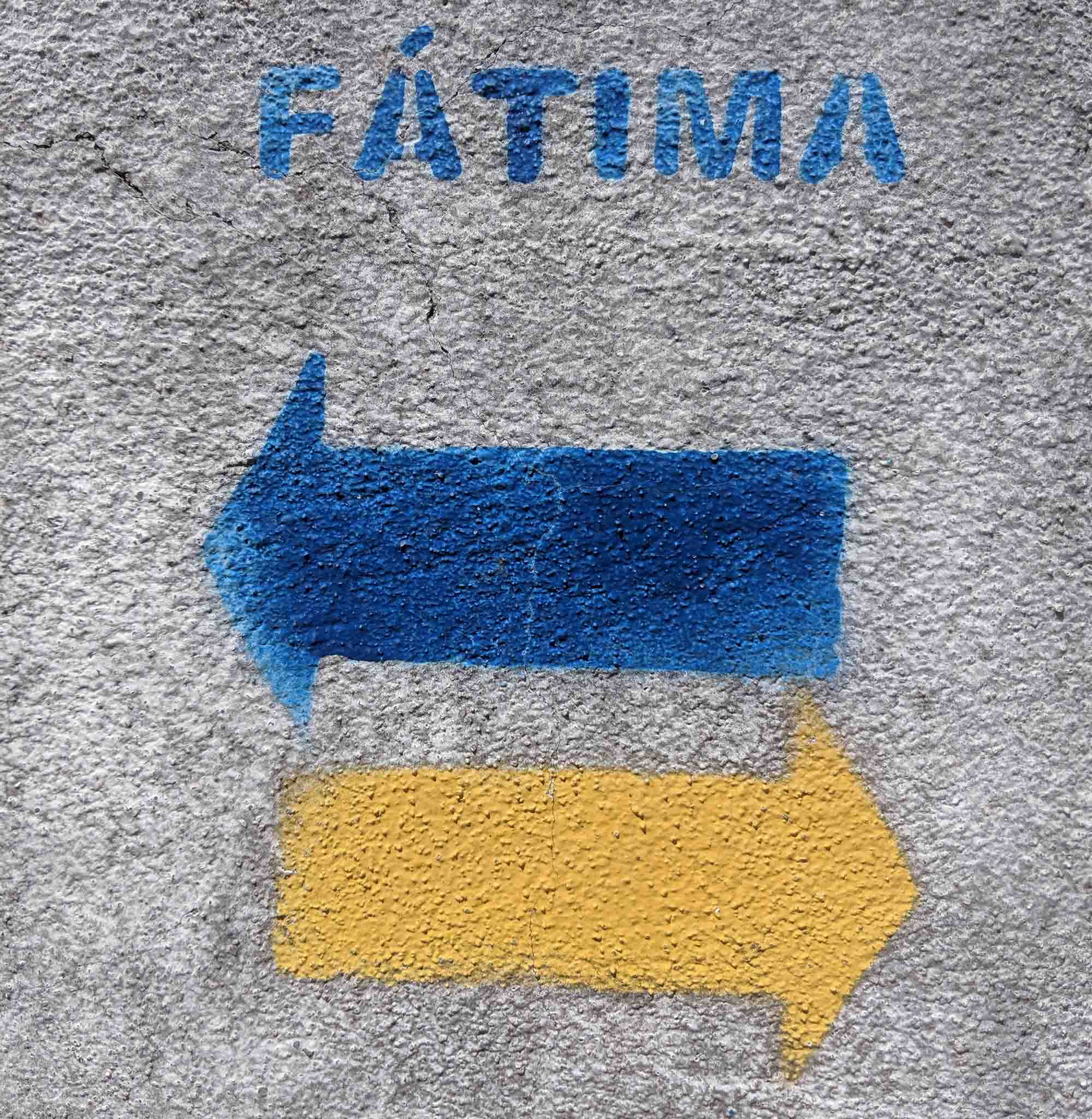 Fatima Pilgramage sign