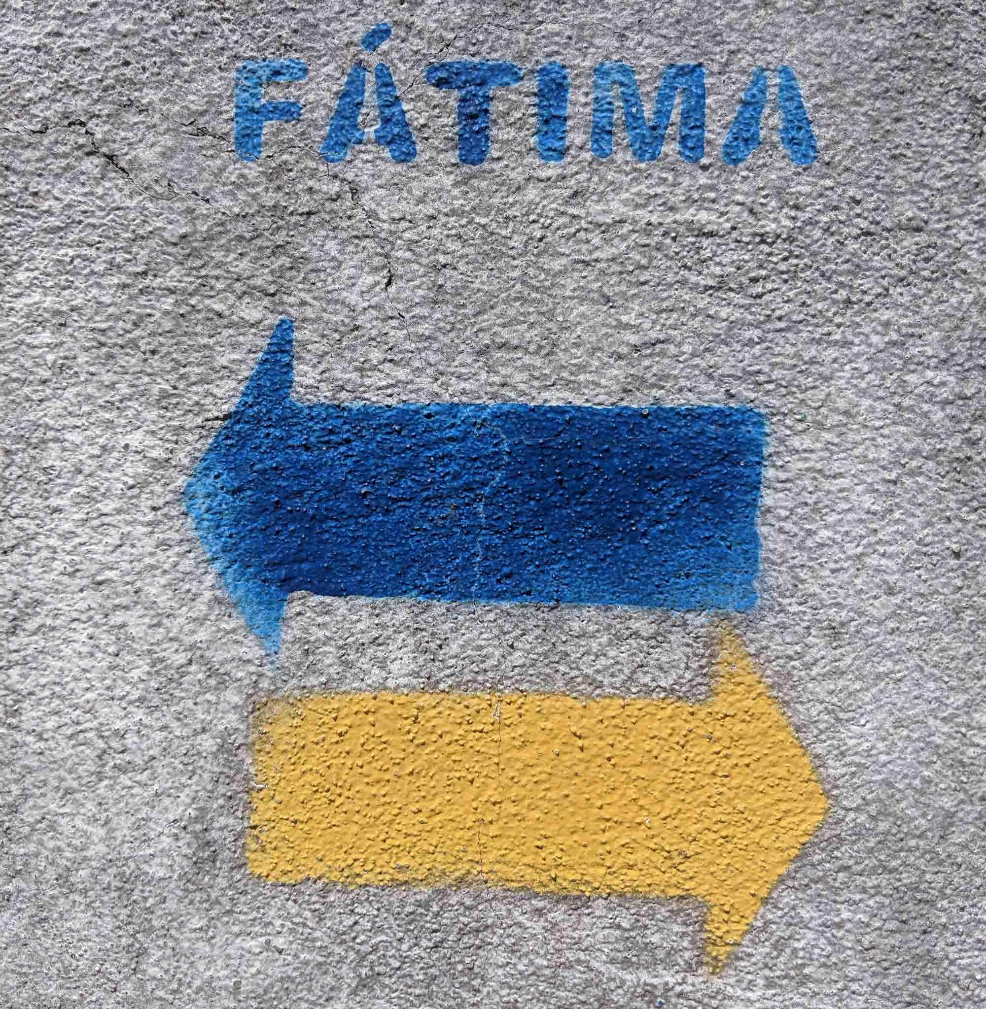 Fatima Pilgramage sign