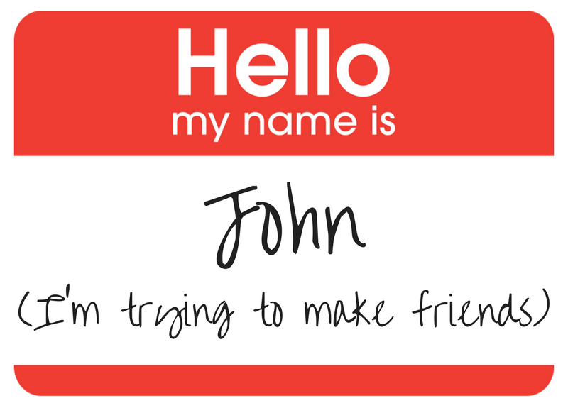 Meetup nametag