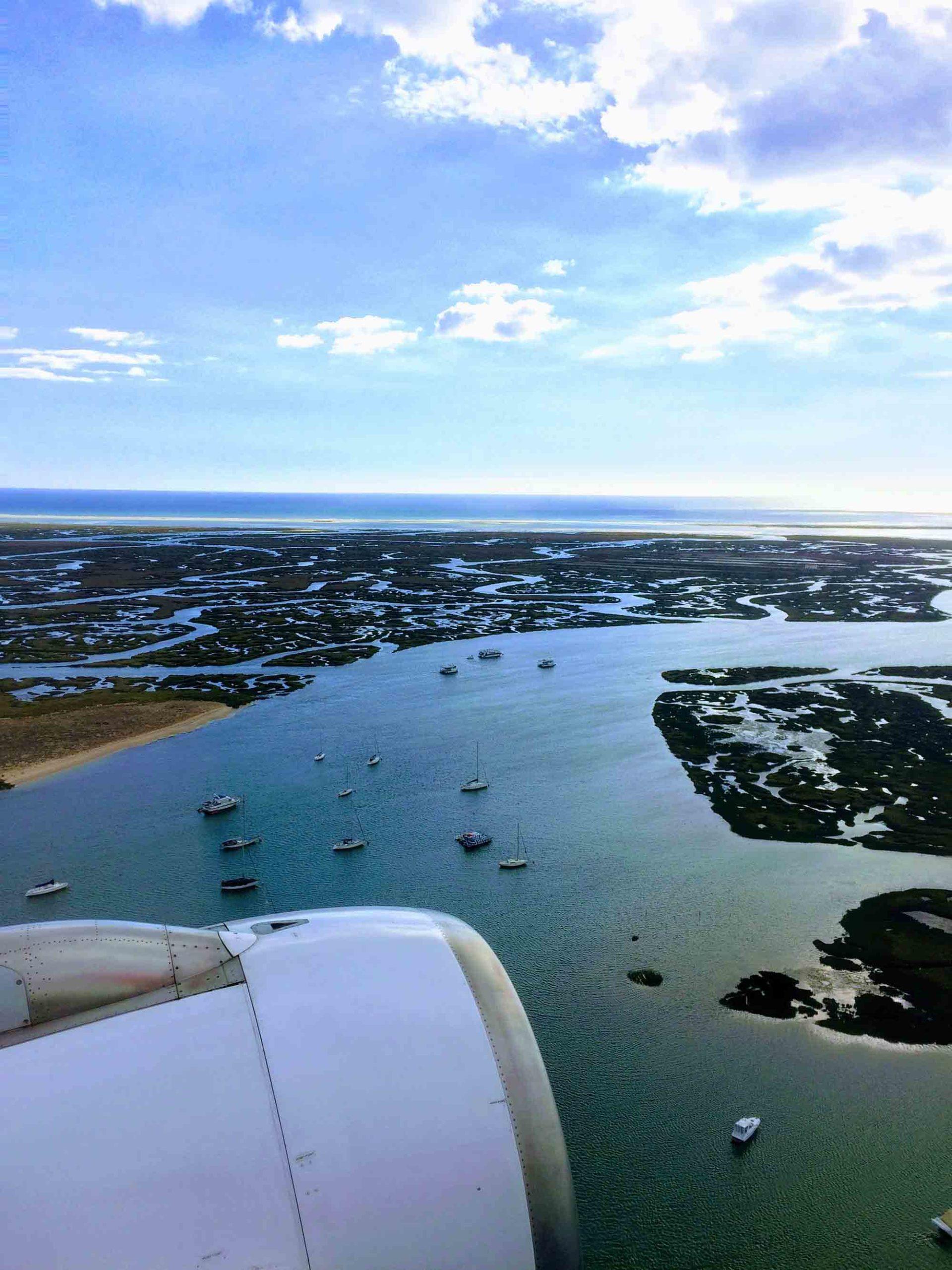 Landing at Faro Airport