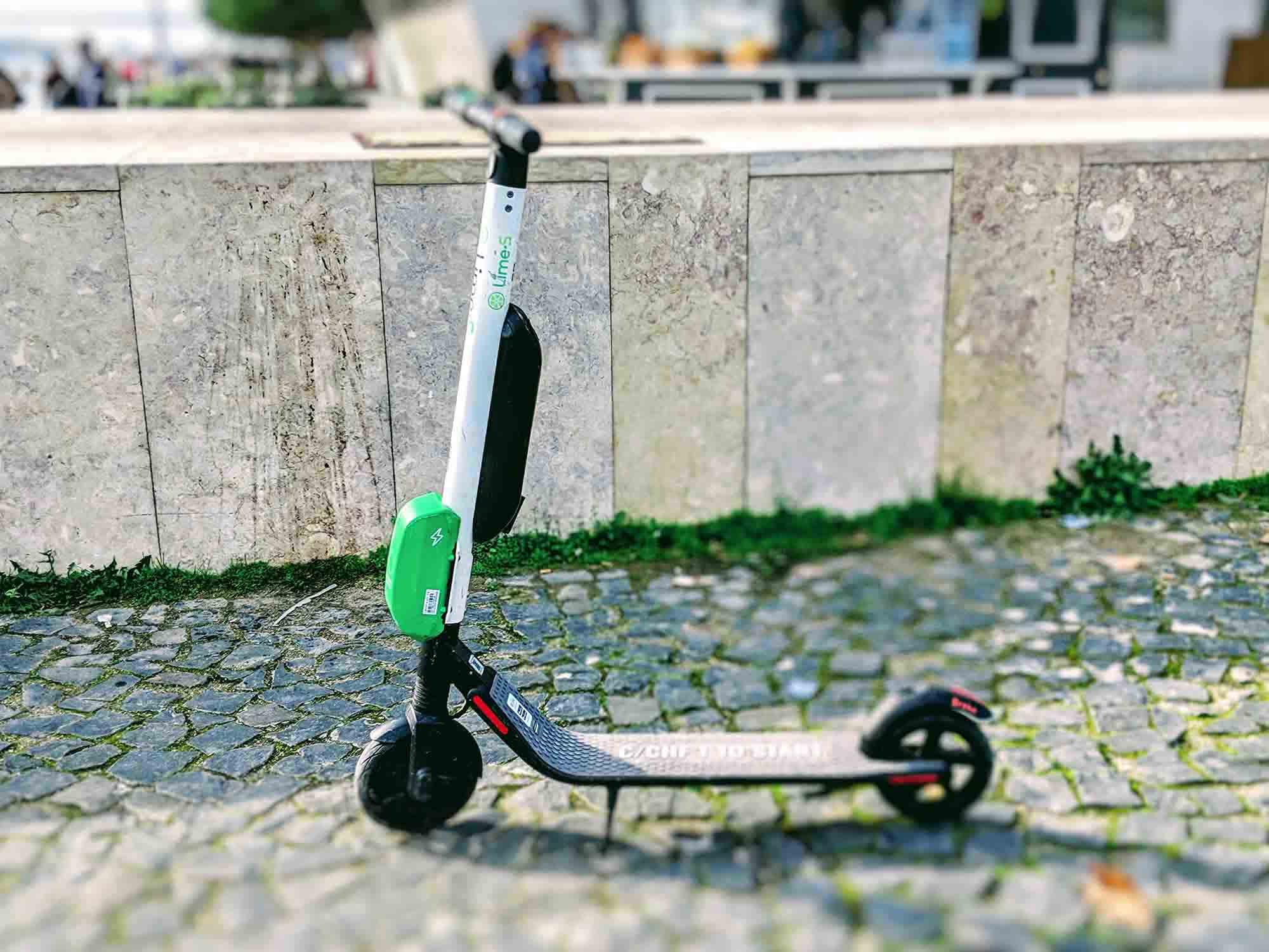 Lime scooter lisbon