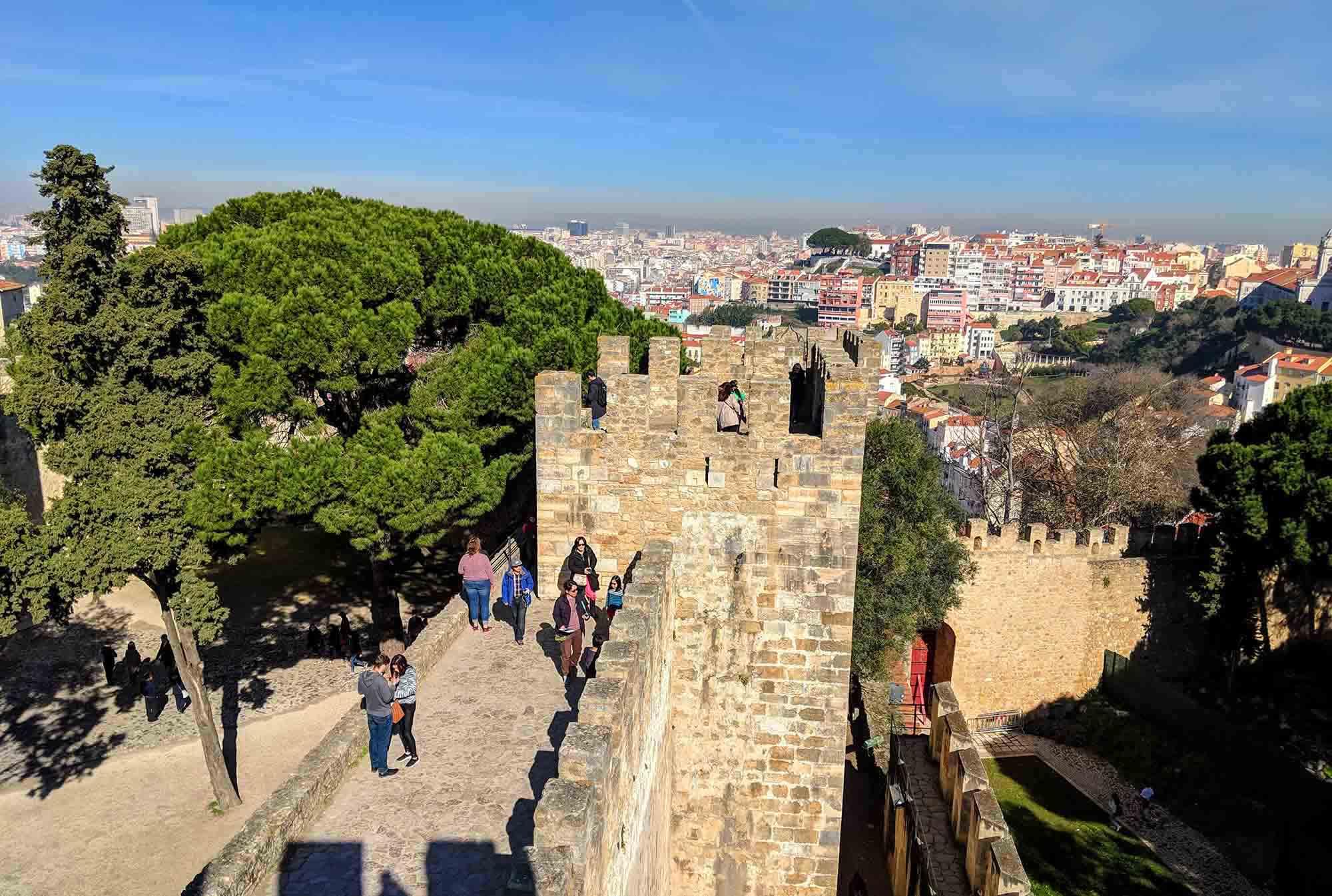 Lisbon Castle Turret