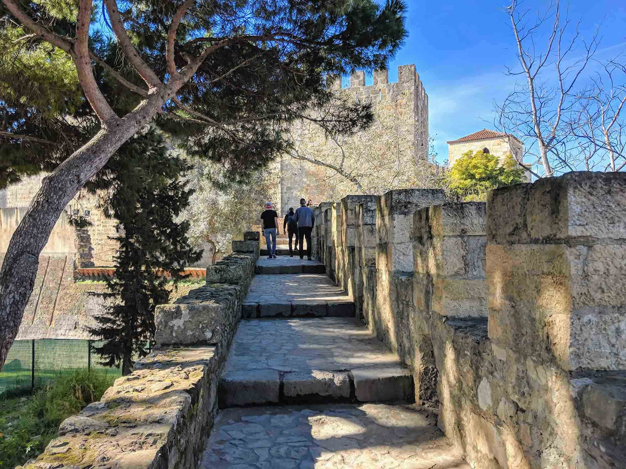Lisbon castle battlements