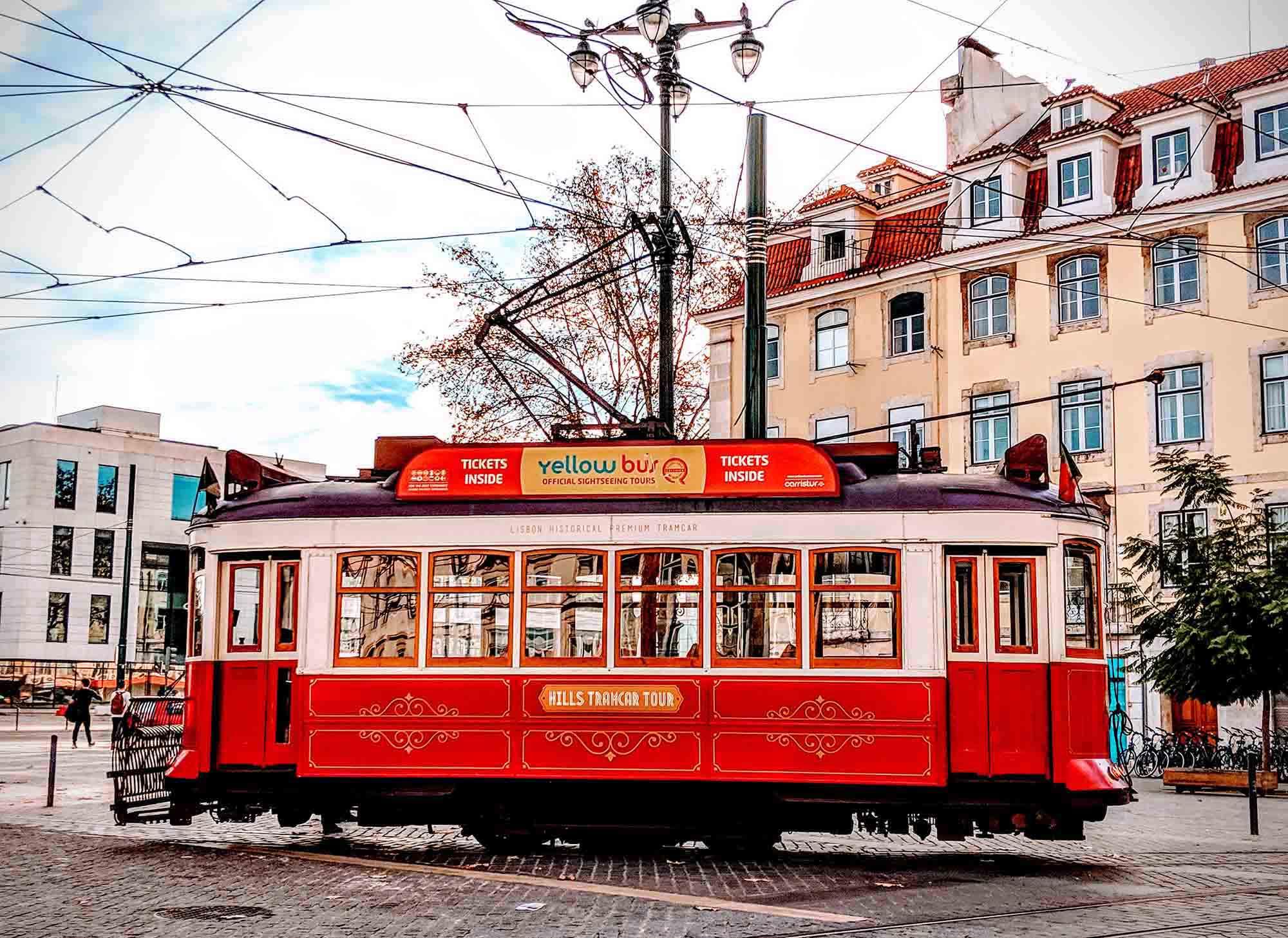 Lisbon sightseeing tram