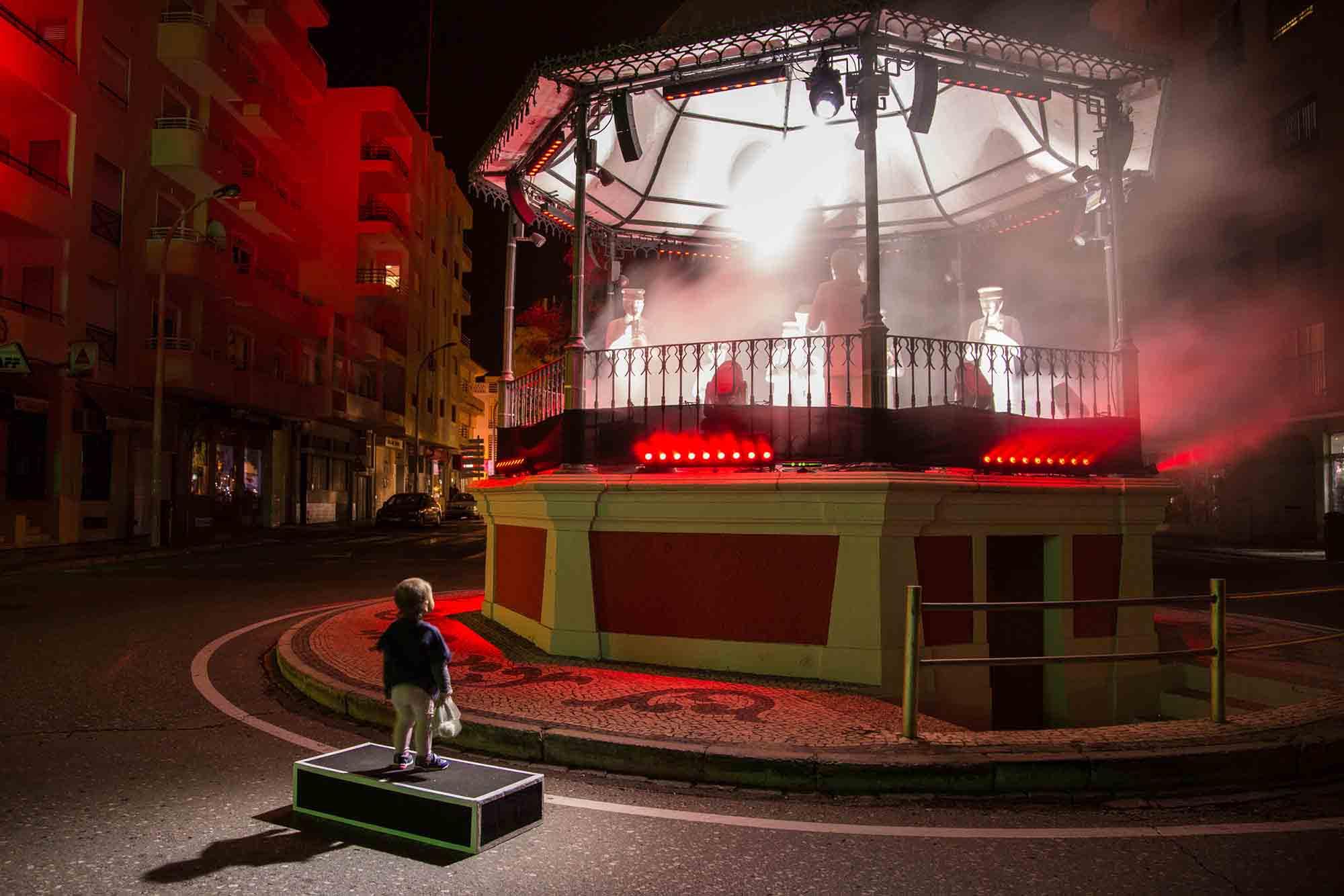 Luza Festival installation by Boris Chimp