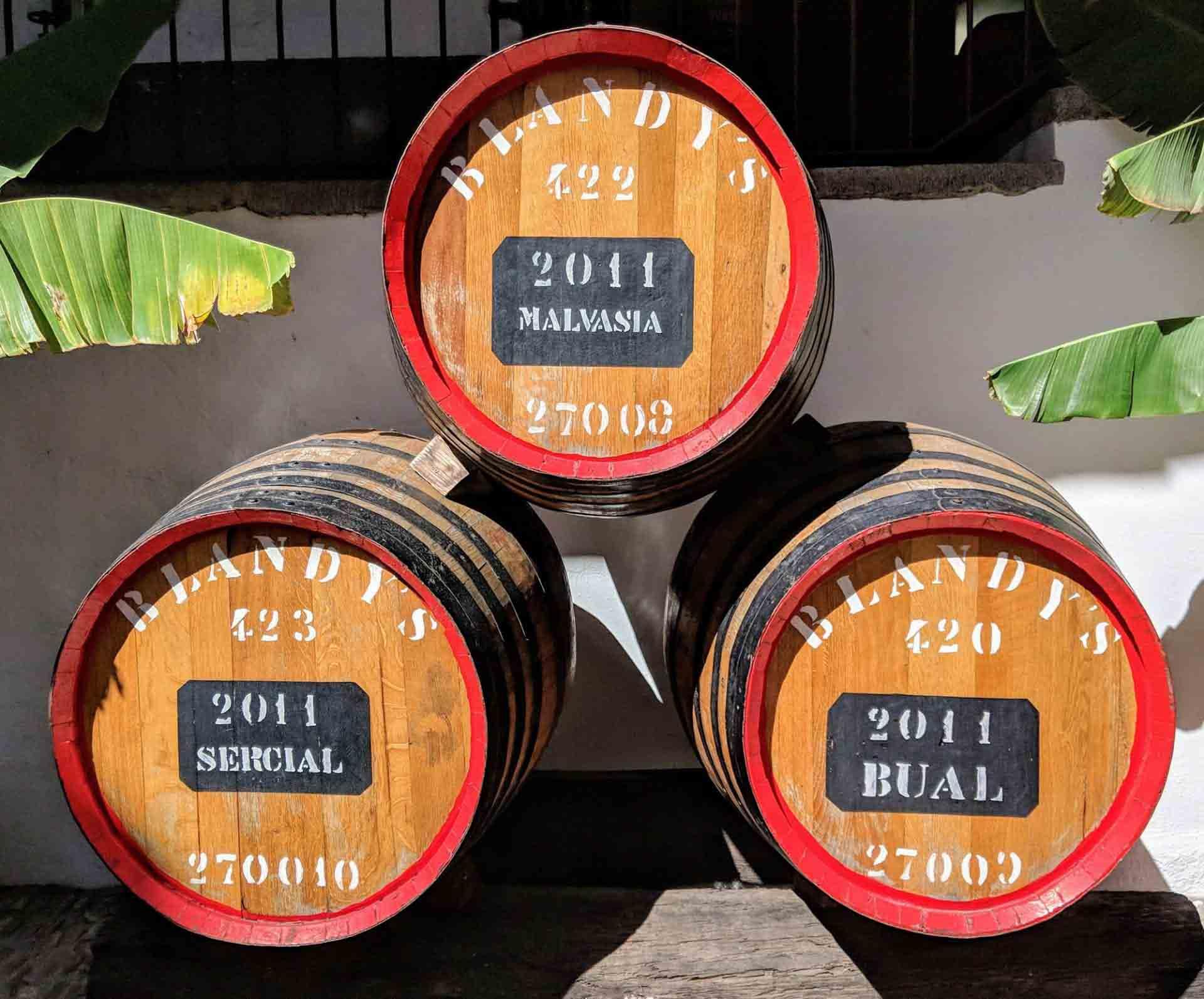 Madeira wine barrels