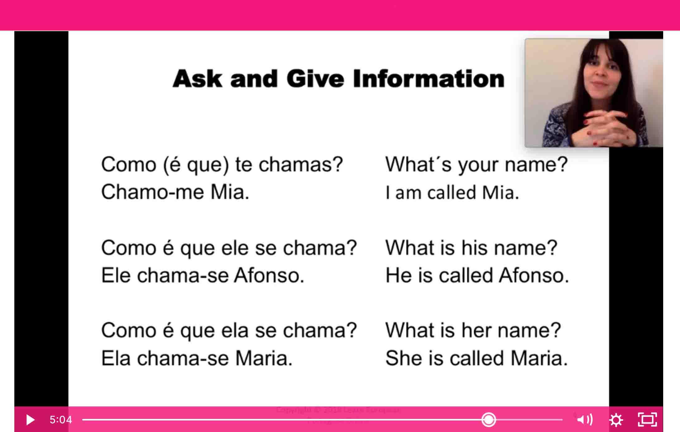 Mia learn european portuguese