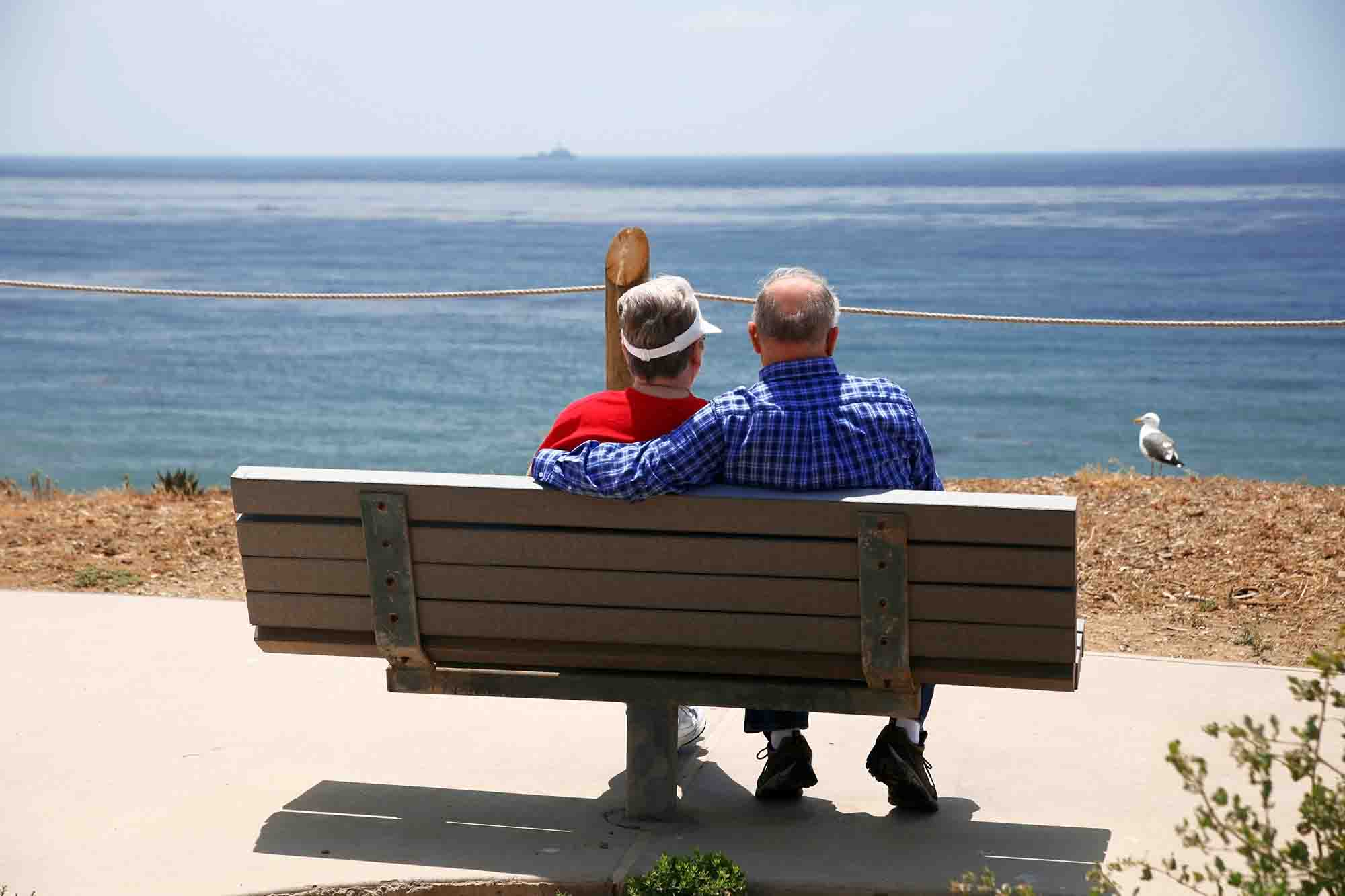 Pensioners by clifftop