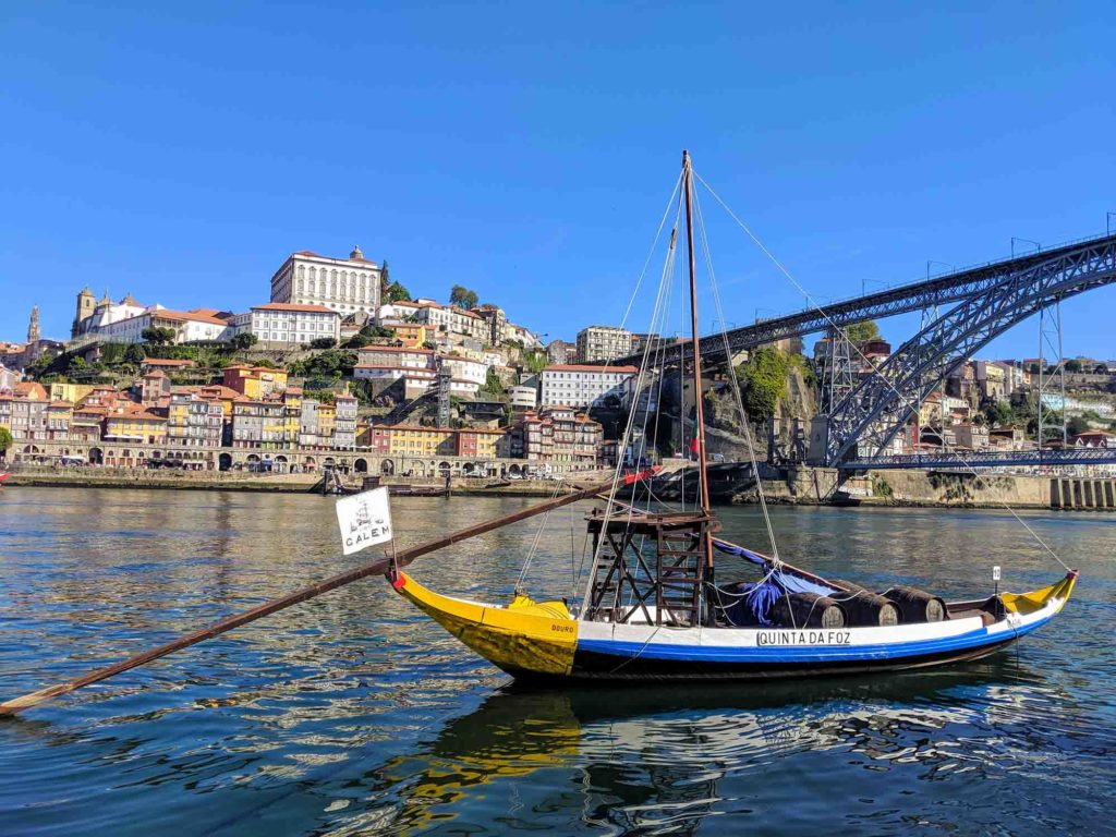 view of Porto from Vila Nova da Gaia