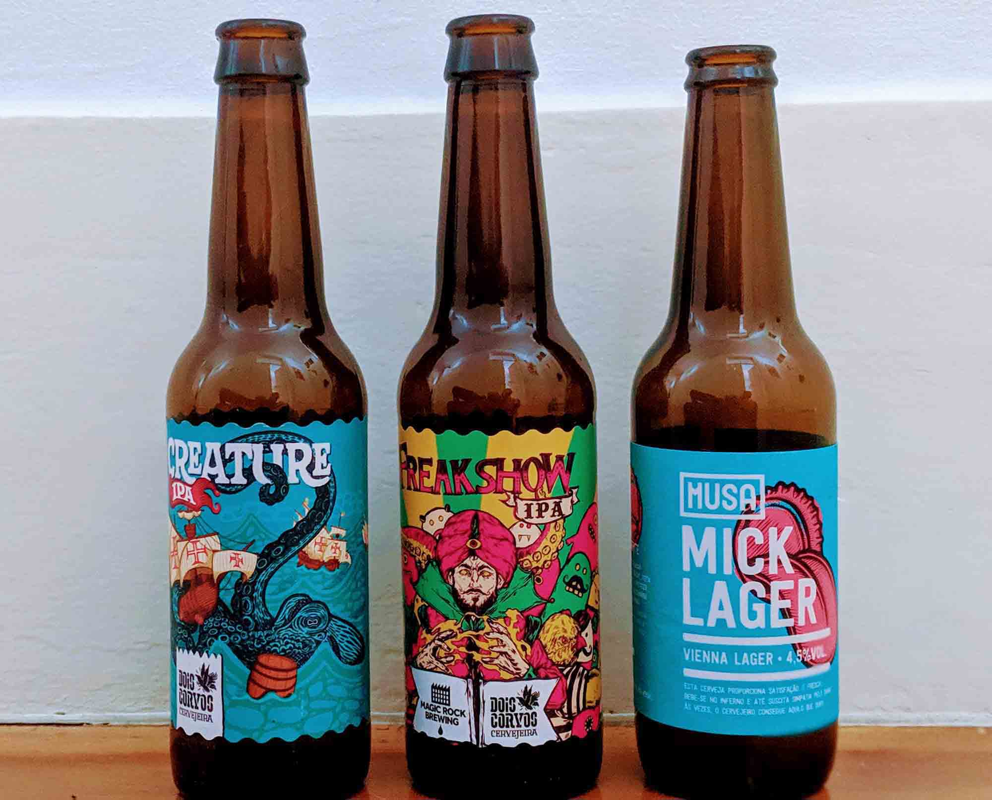 Portuguese craft beer bottles