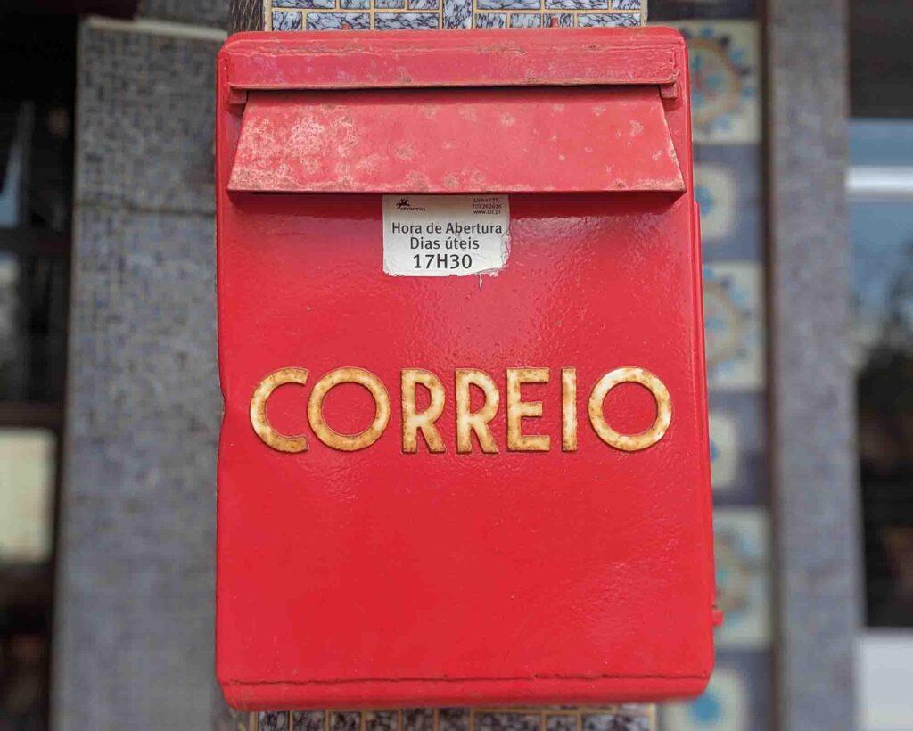 Portuguese mailbox