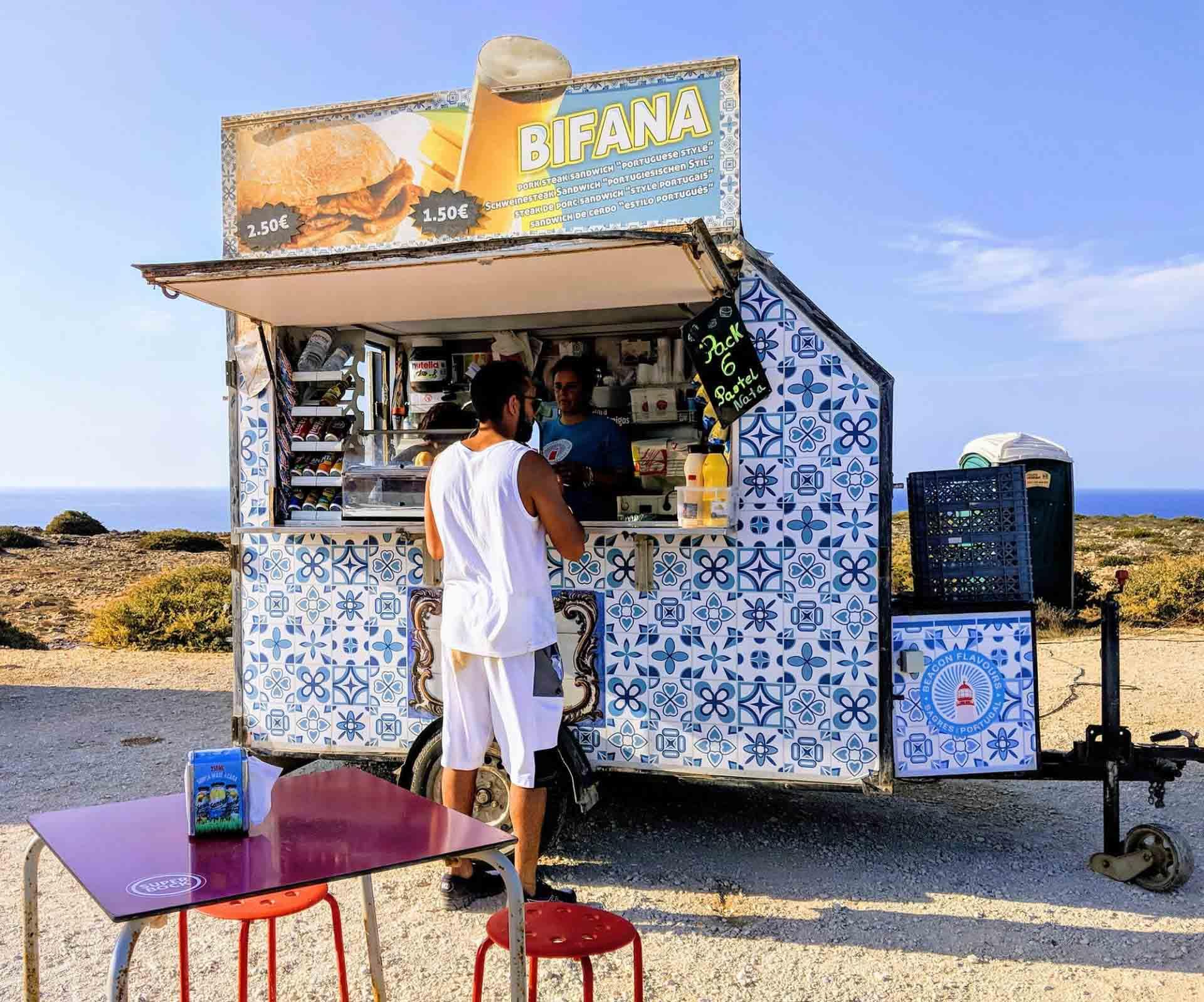Portuguese street food van