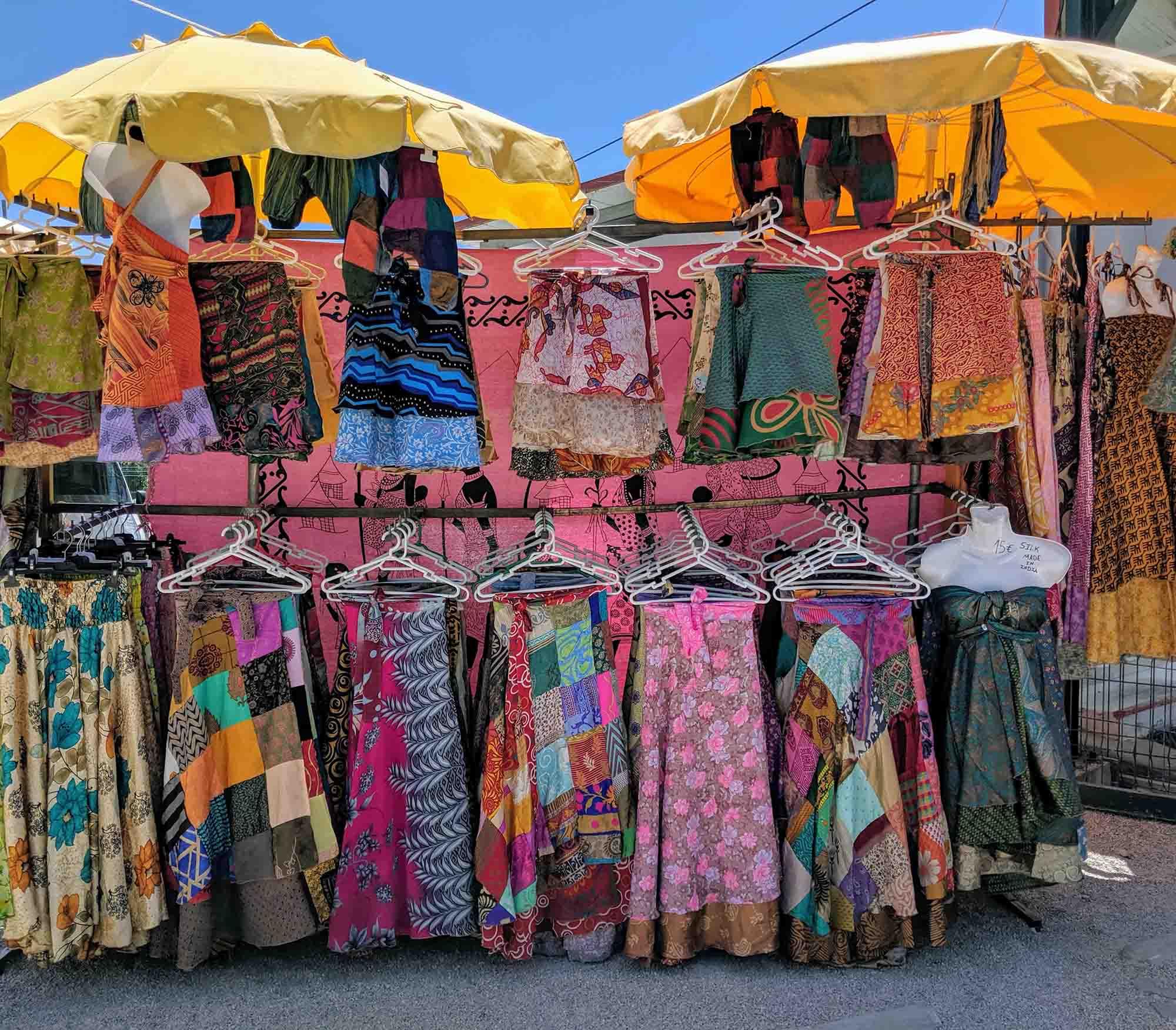 Dresses at Quarteira Gypsy Market
