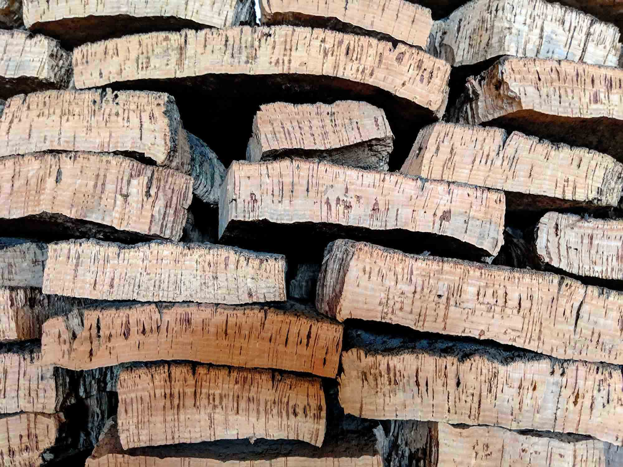 Thick pieces of cork