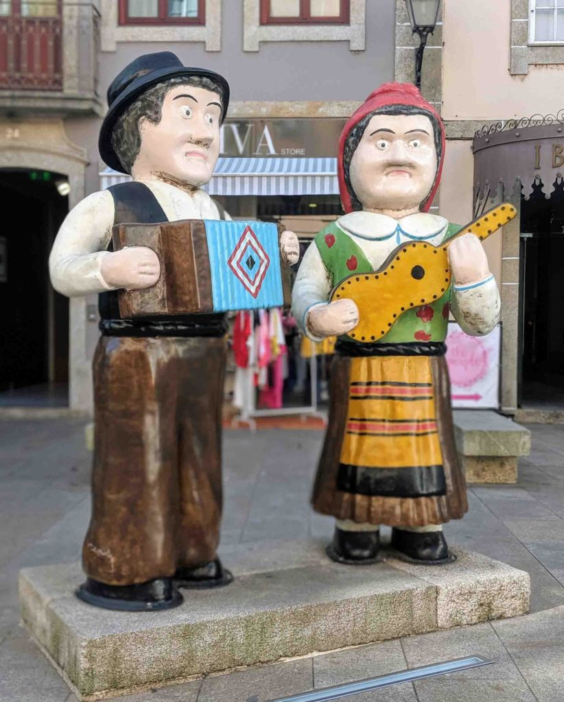 Typical tugas statues
