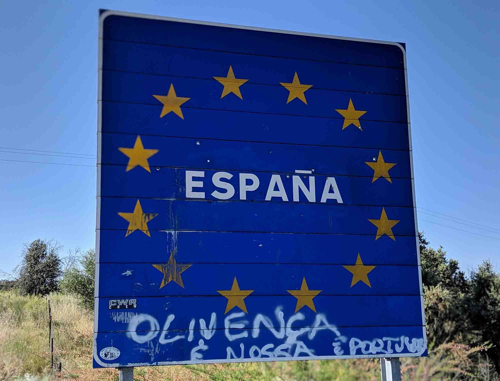 Welcome to Spain sign