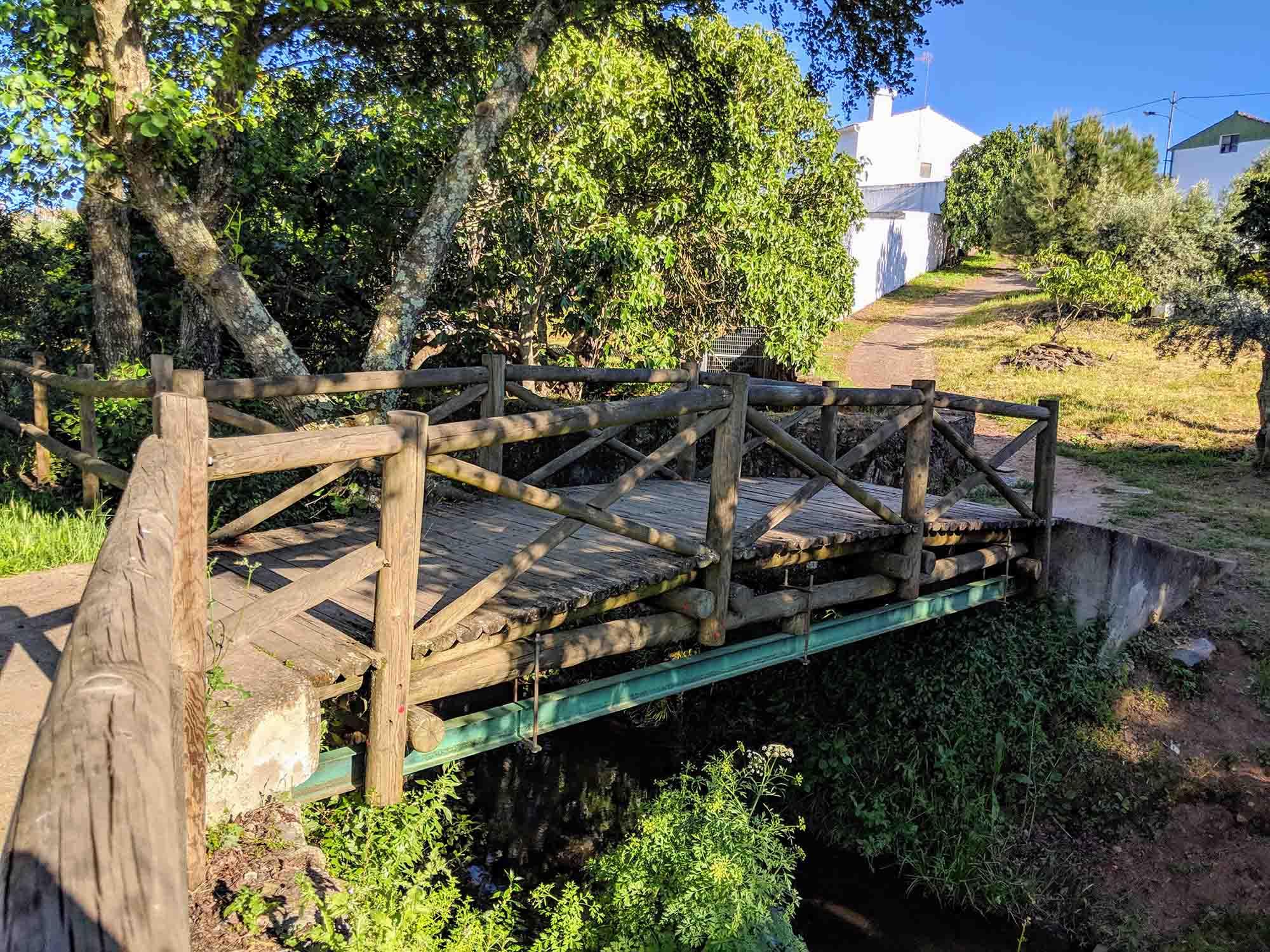 Worlds smallest bridge into Portugal