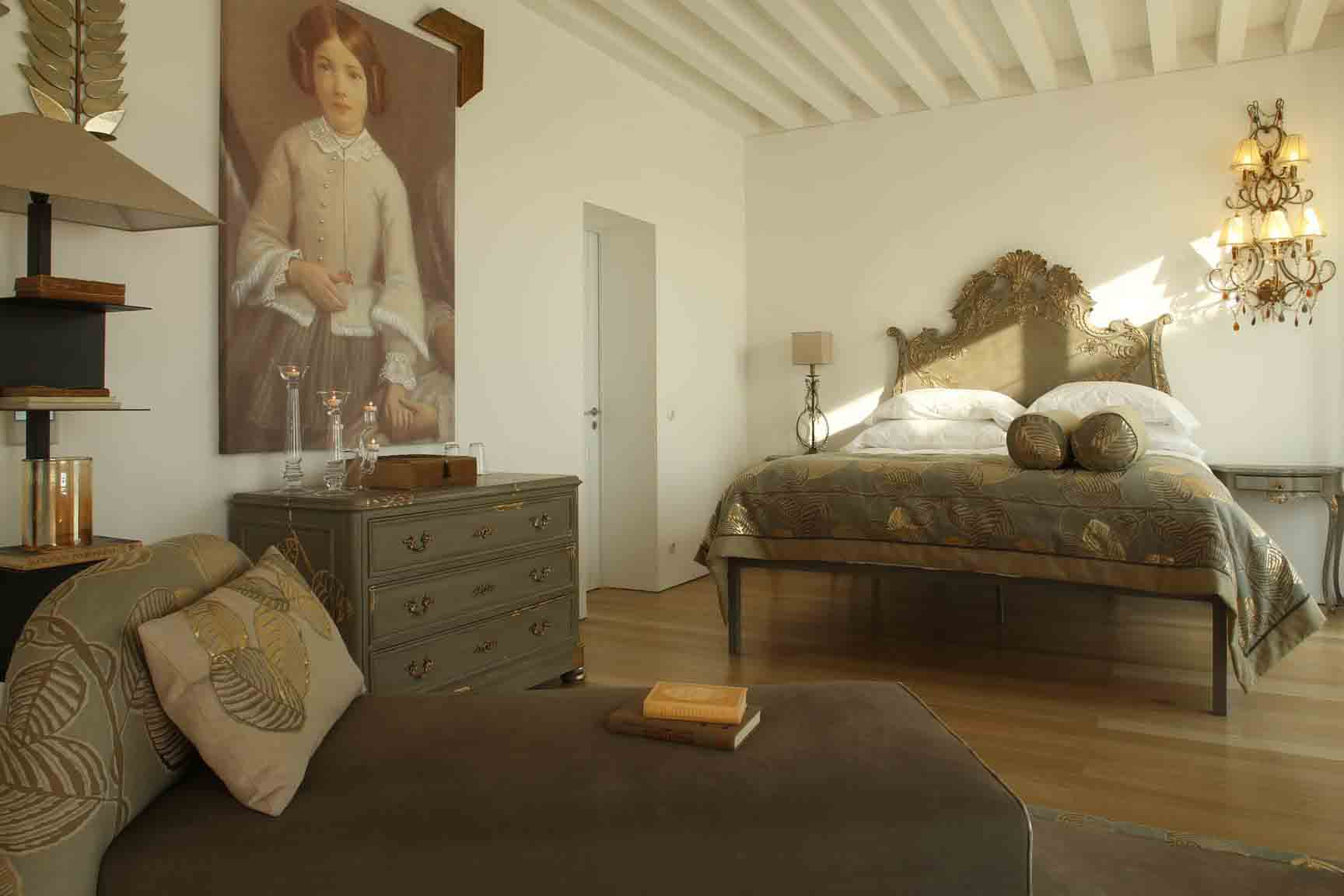 A double bedroom at Torre de Palma