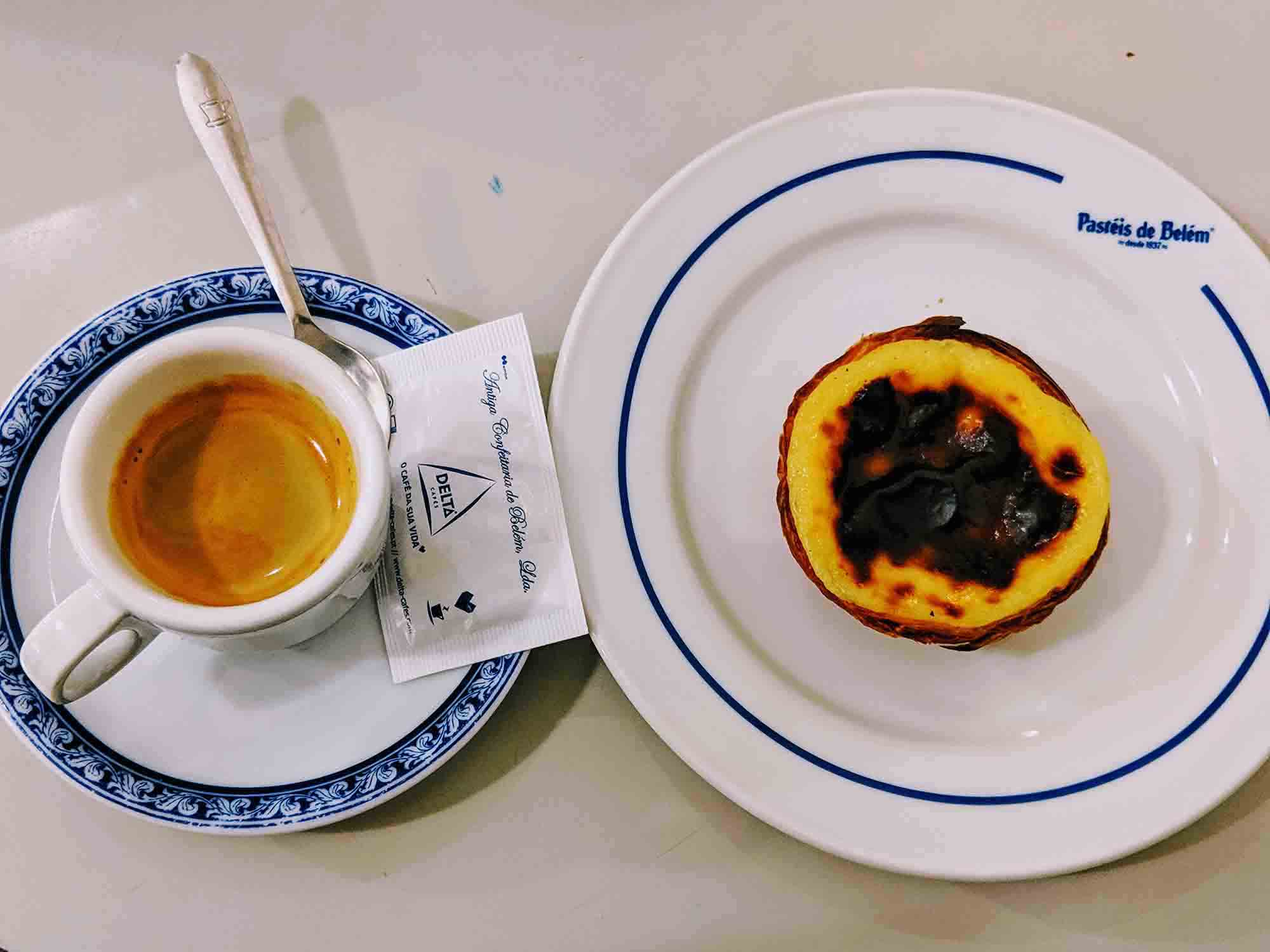 coffee and nata pasteis de belem