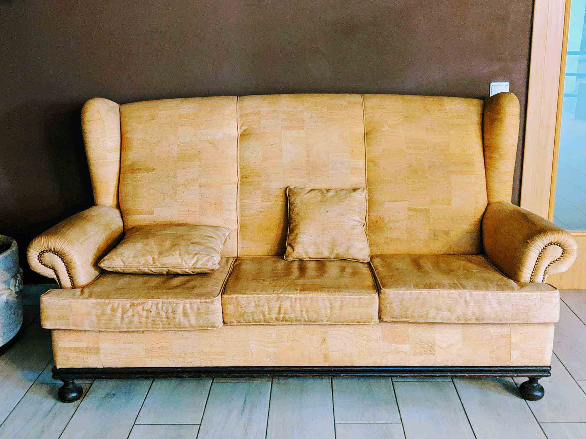 couch made from cork
