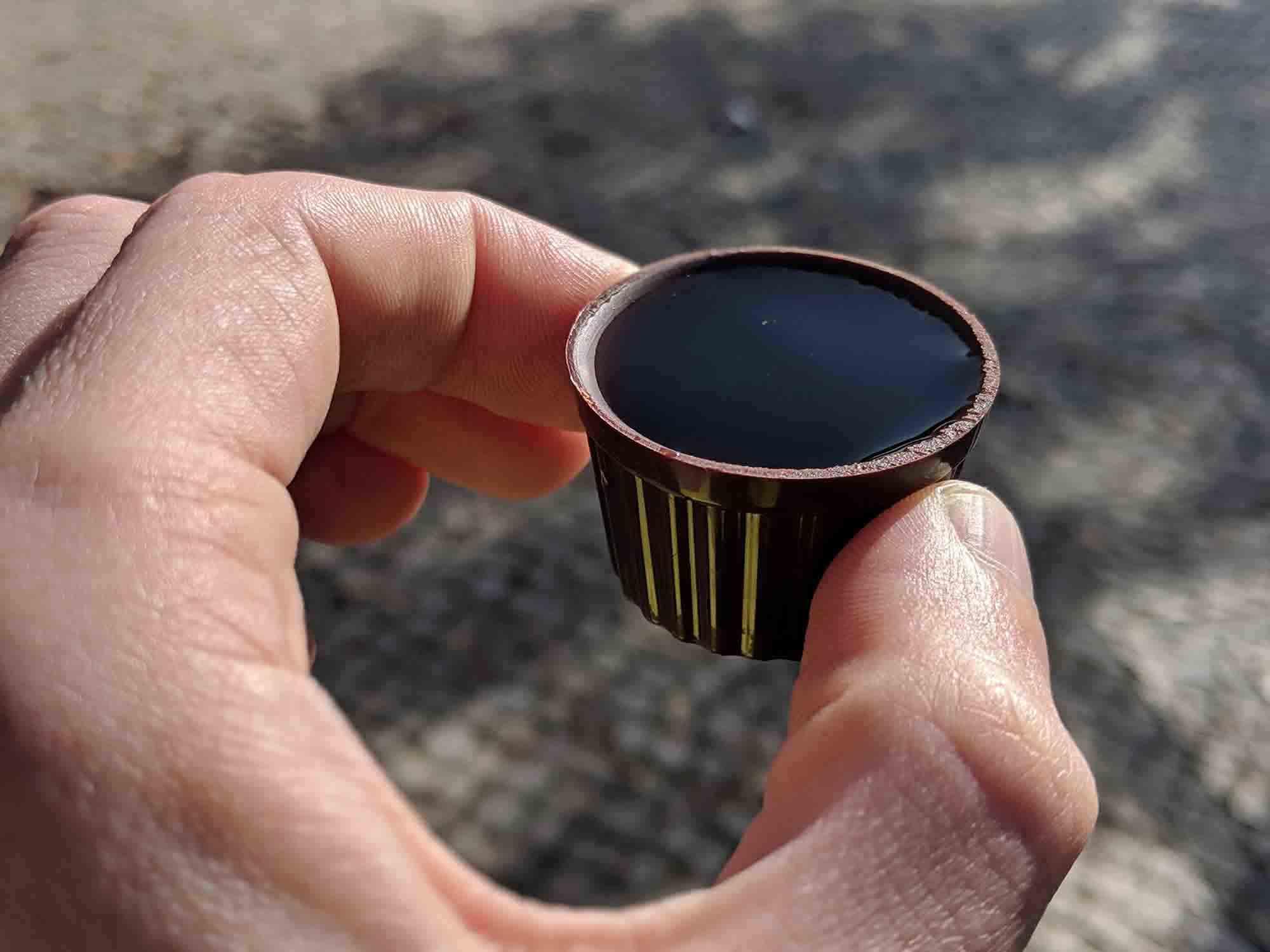 ginjinha in chocolate cup