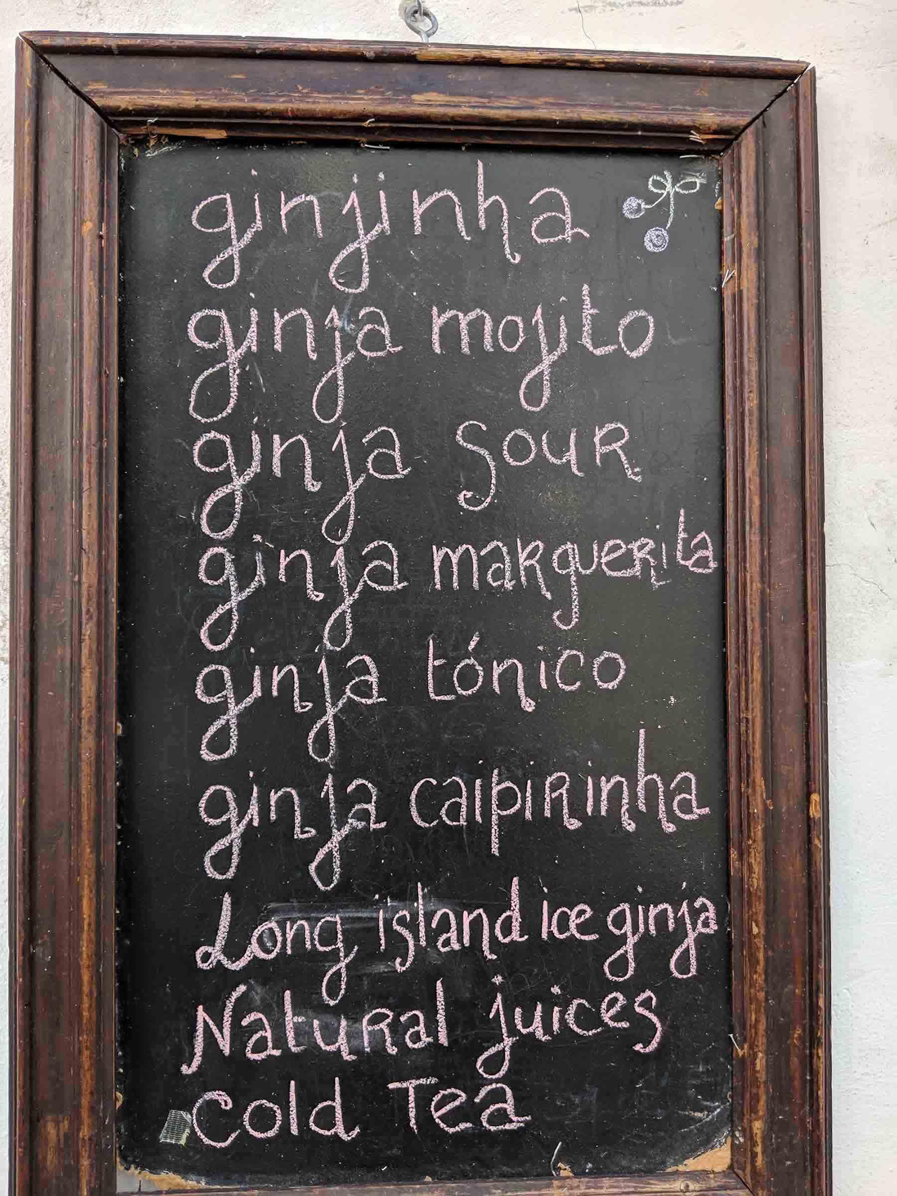 ginjinha cocktails