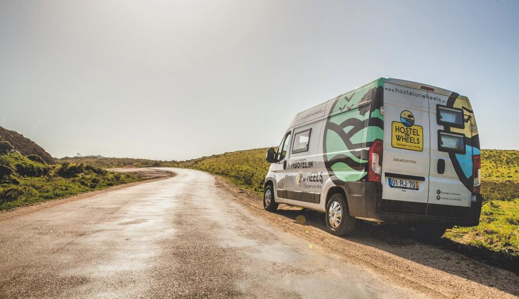 Hostels on wheels van