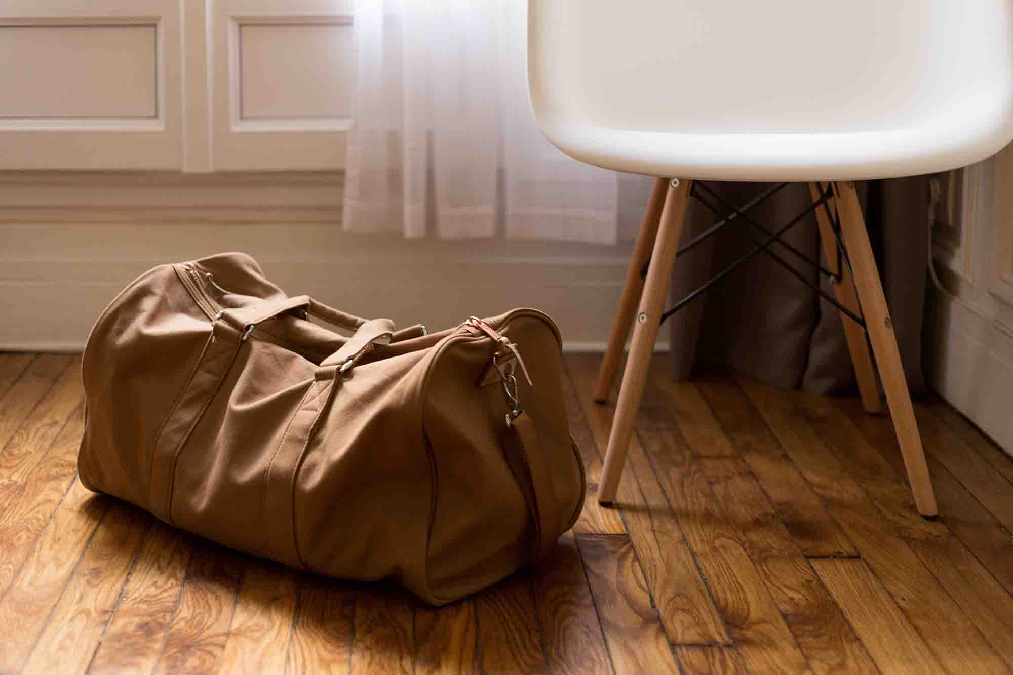 luggage and chair