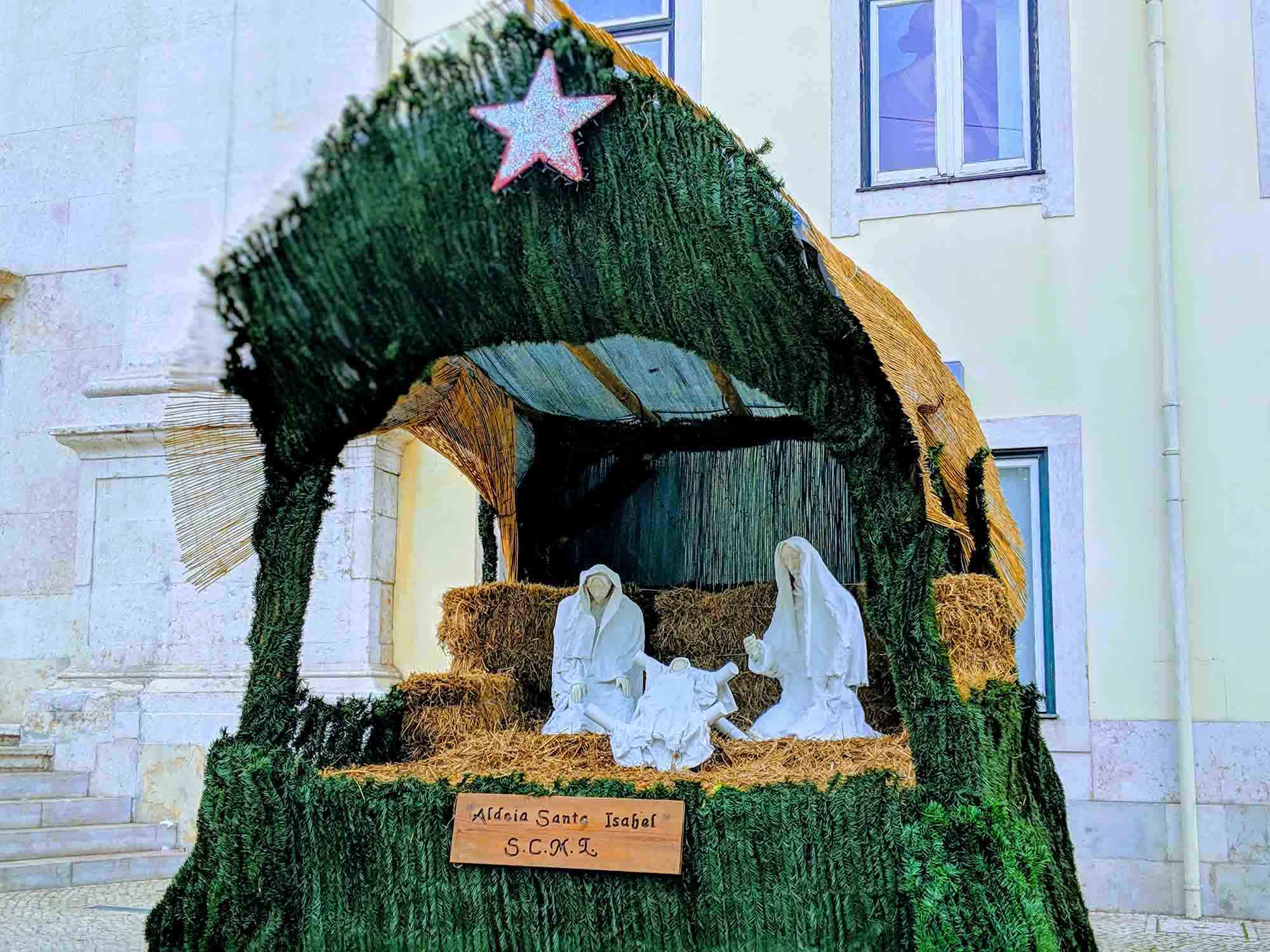 a nativity scene in lisbon