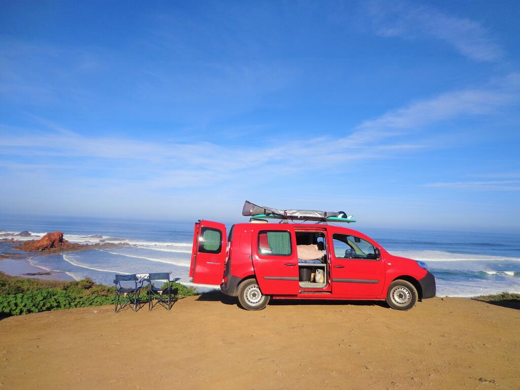 oceancamper van by the beach