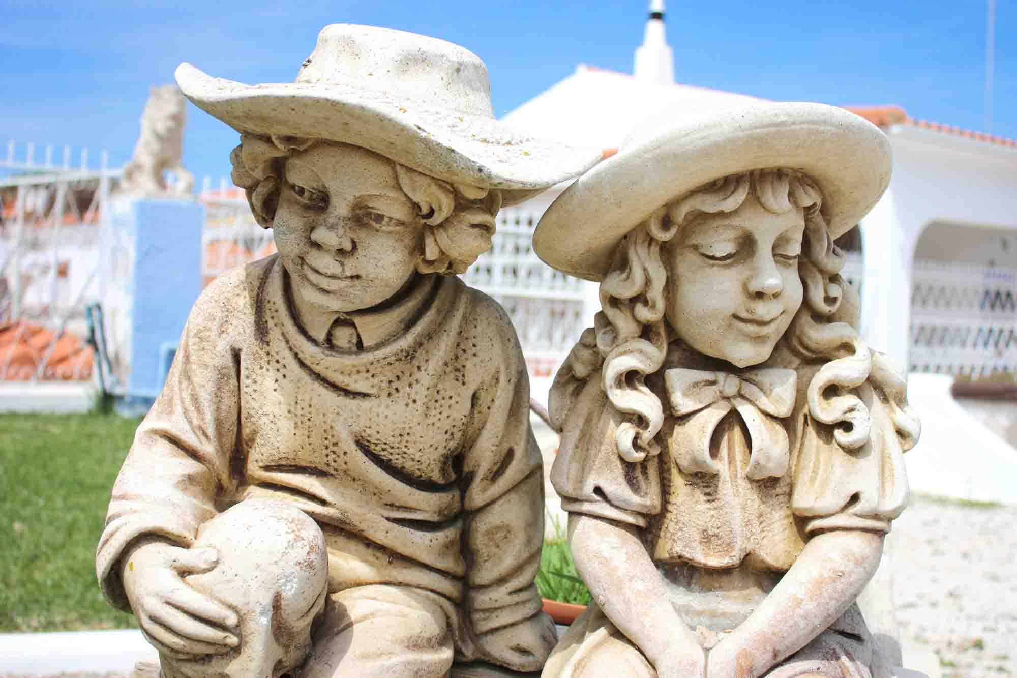 pottery statues porches
