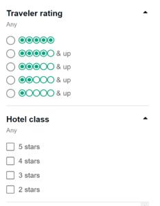 traveler rating on TripAdvisor