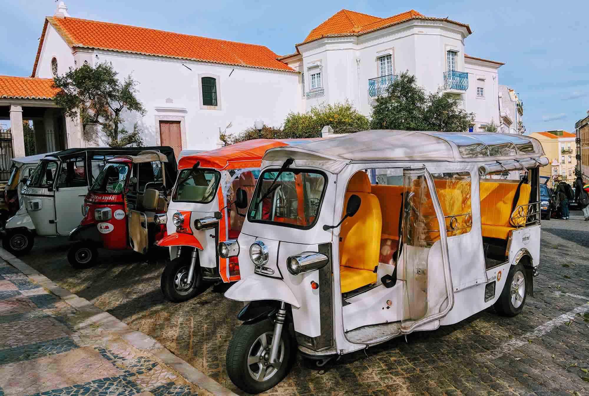tuk tuks in Lisbon