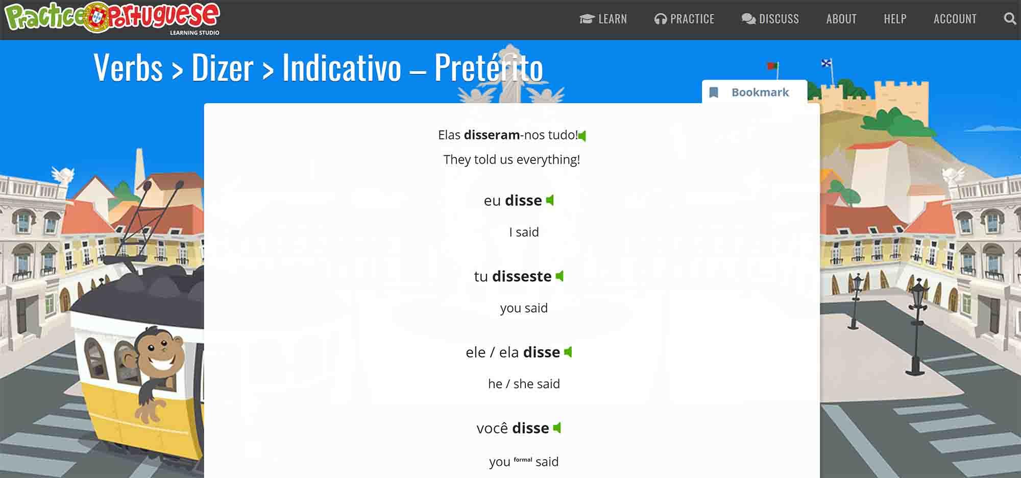 verbs practice portuguese