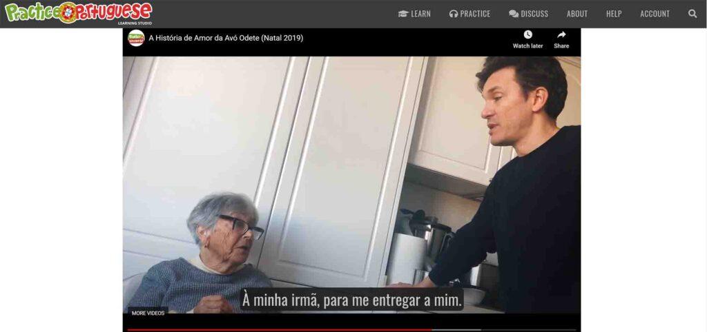 videos practice portuguese
