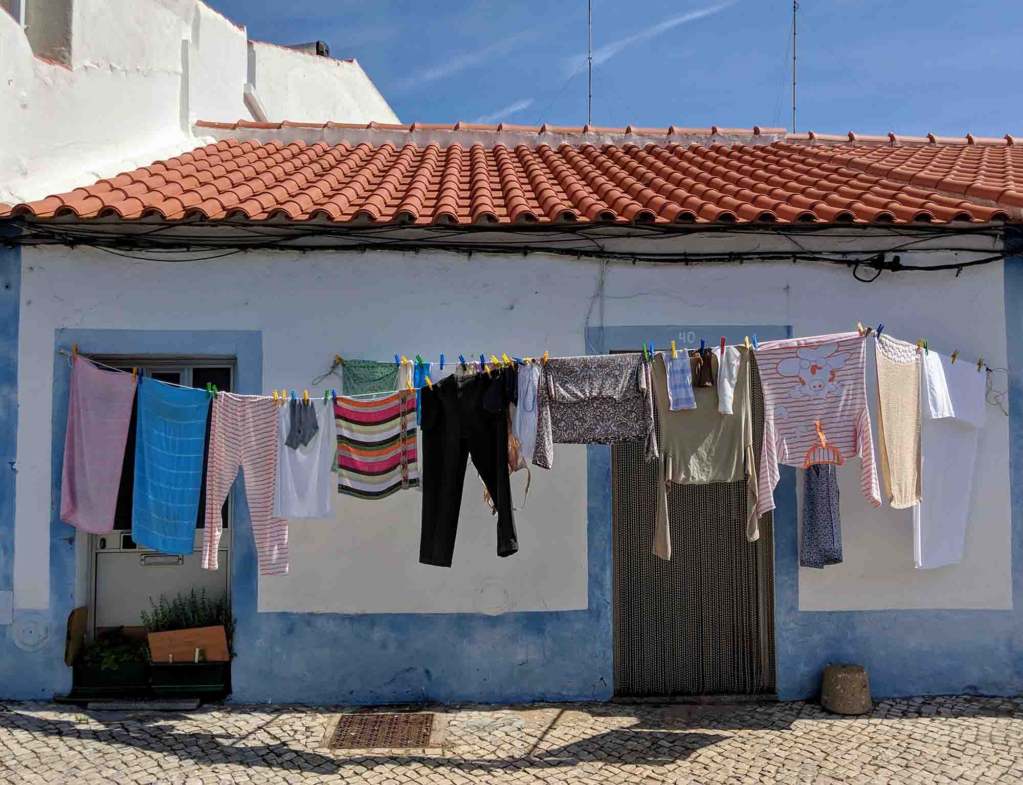 washing hanging out in Portugal